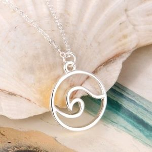 Jewelry - Ocean Wave Necklace- silver